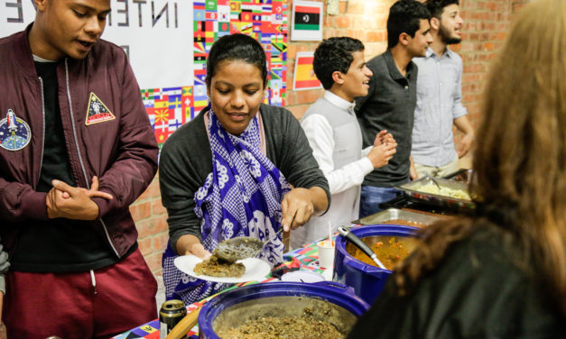 Multicultural festivities at fun Food Evening