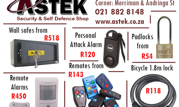 Ad: Astek Security and Self Defence Shop
