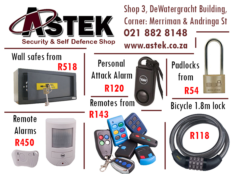 Ad: Astek Security and Self Defence Shop
