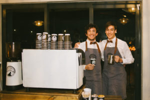 COFFEE ON THE GO VOORT-koffiehandelaars gladly provides their products at weddings and other functions. Van Zyl Venter (left) and Sean Weber (right) will be at your service.